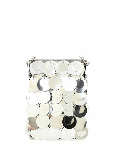 Paco Rabanne Clutch / El Çantası Gümüş